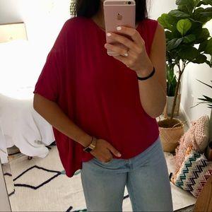 Heather Tees Tops - Heather Asymmetrical Top